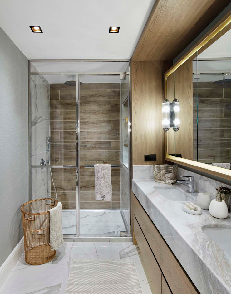 Afyon house Esra Kazmirci Mimarlik BathroomFittings Wood Beige