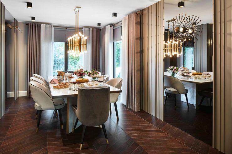 Afyonhouse Esra Kazmirci Mimarlik Dining roomLighting Copper/Bronze/Brass Amber/Gold