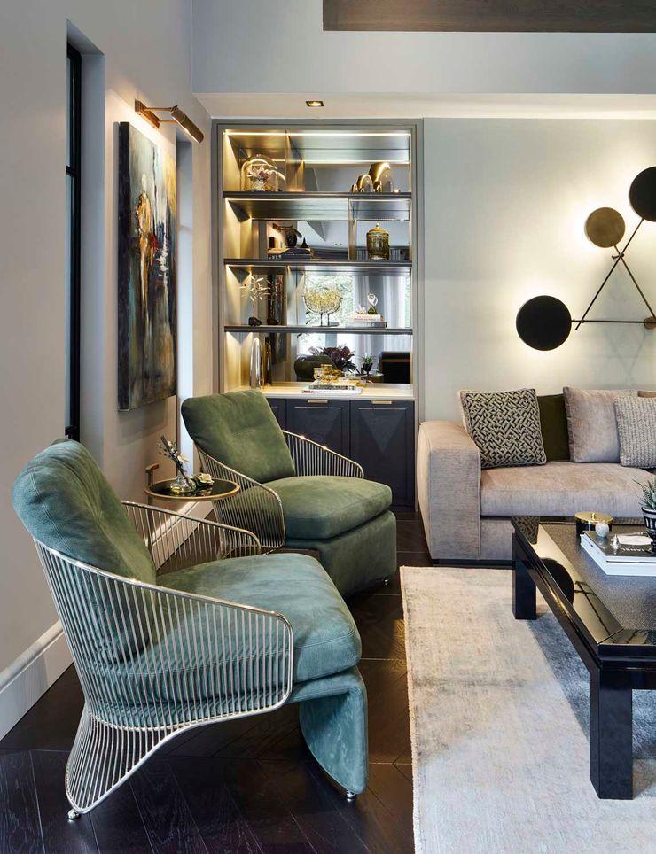 Afyon house Esra Kazmirci Mimarlik Living roomSofas & armchairs Leather Green
