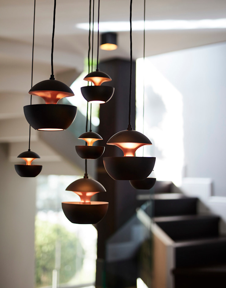 Afyonhouse Esra Kazmirci Mimarlik Corridor, hallway & stairsLighting Aluminium/Zinc Black