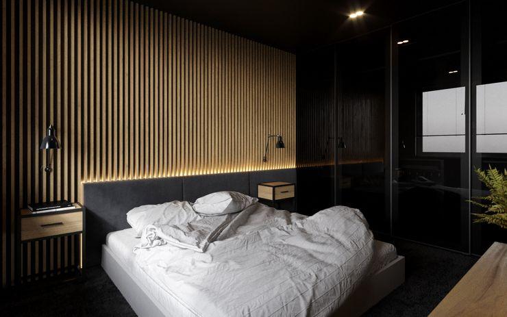 Ale design Grzegorz Grzywacz Modern style bedroom Wood Black