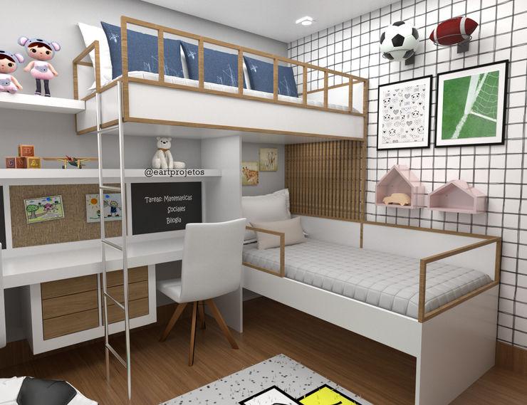 QUARTO MENINO E MENINA Eart Arquitetura e Interiores Quarto infantil moderno