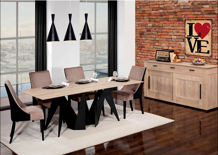 Esstisch + Stühle (Estran Kollektion) Ronfe Classic Industriale Esszimmer