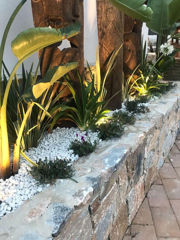 Jardineras y luz A interiorismo by Maria Andes Bares y clubs de estilo tropical