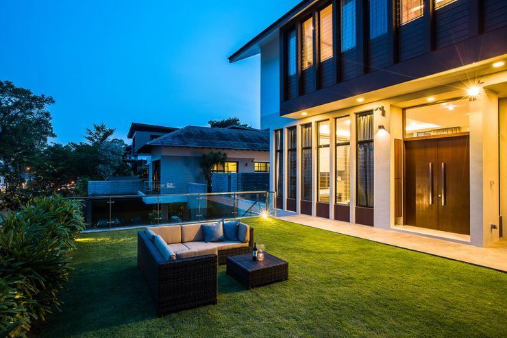 Summerhaus D'zign Jardines de estilo moderno