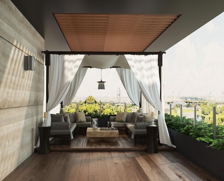 Norm designhaus Balkon Amber/Gold