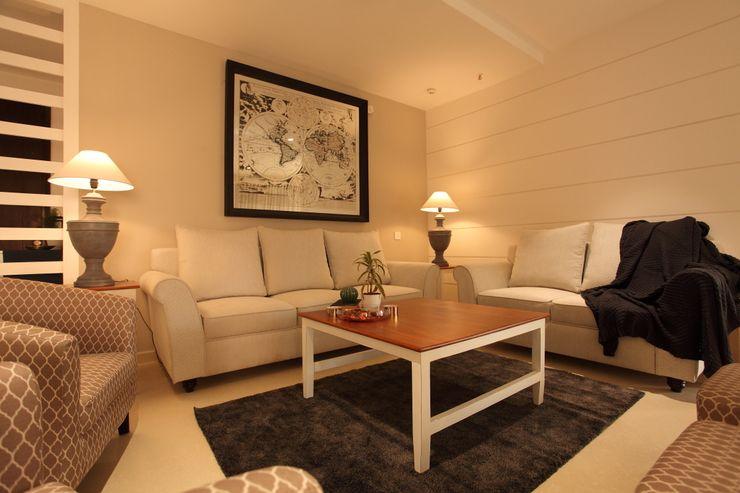 Saloni Narayankar Interiors Salas de estar modernas Madeira Branco