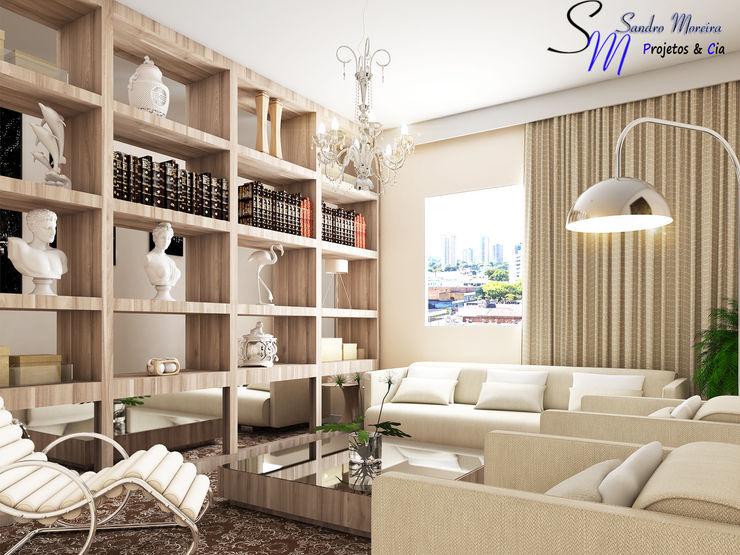 Sala Nichos Madeirado MoreArte Salas de estar modernas Madeira