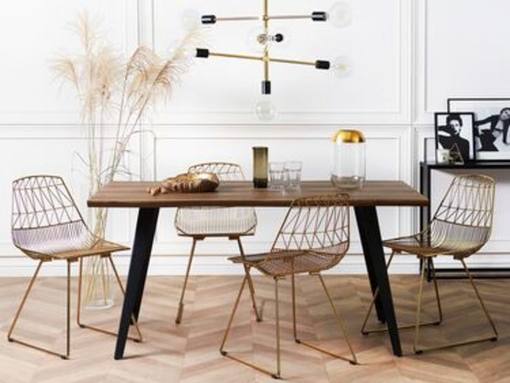 Moderno salotto in stile industriale Beliani Italia Sala da pranzo in stile industriale