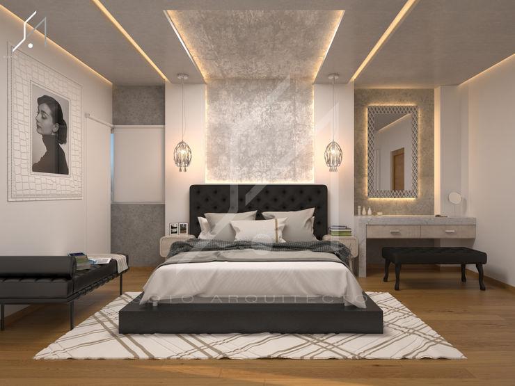 Diseño de Interior / Habitación Principal. Soto Arquitectos Dormitorios modernos Gris