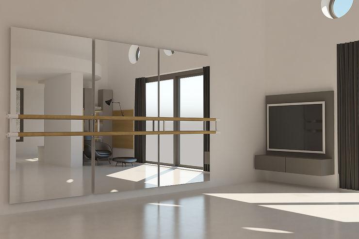 Bale Alanı Kalya İç Mimarlık \ Kalya Interıor Desıgn Modern Fitness Odası Ahşap Gri