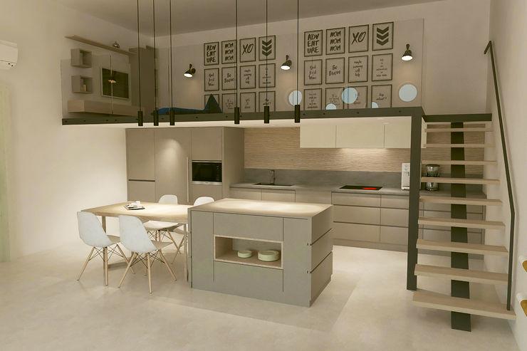 Mutfak - Balkon Kalya İç Mimarlık \ Kalya Interıor Desıgn Ankastre mutfaklar Ahşap Ahşap rengi