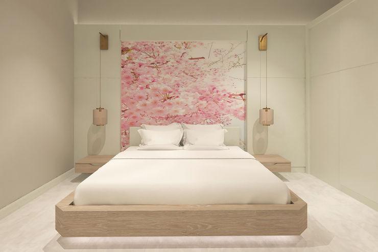Yatak Odası - Yatak Başı Kalya İç Mimarlık \ Kalya Interıor Desıgn Modern Yatak Odası Ahşap Beyaz