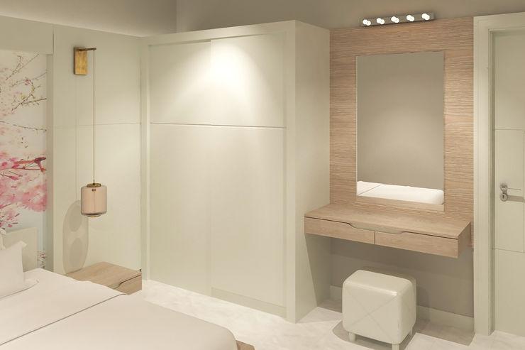 Yatak Odası - Gardrop Kalya İç Mimarlık \ Kalya Interıor Desıgn Modern Yatak Odası Ahşap Beyaz