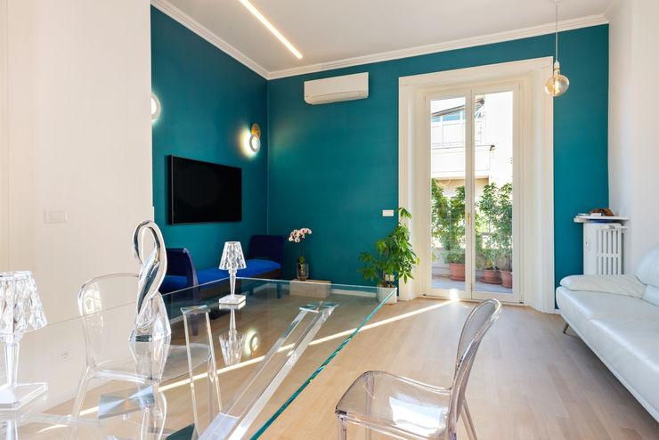 soggiorno BB1 LABORATORIO DI ARCHITETTURA & DESIGN Sala da pranzo moderna