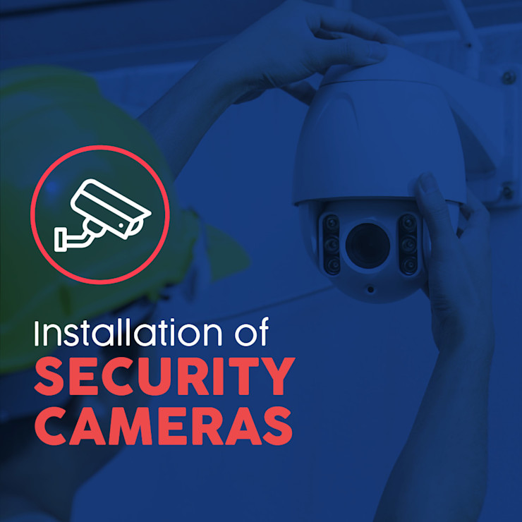 Installation of Security Cameras Serviman USA Office buildings