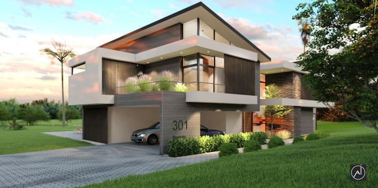 Architexture Lab Modern houses Bricks Beige