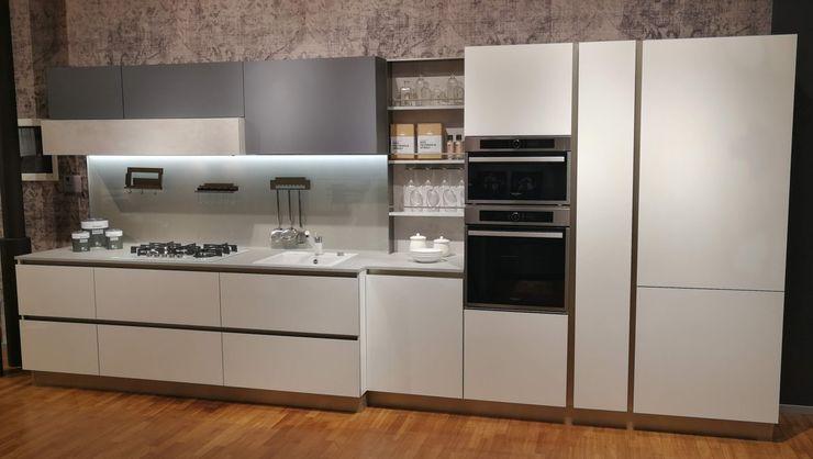 Stosa Cucine - Alevè Formarredo Due design 1967 Cucina attrezzata Bianco