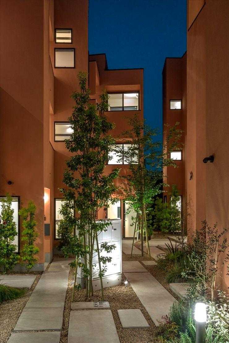 向山建築設計事務所 Mediterranean style garden