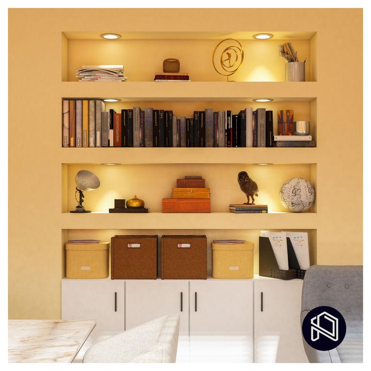 OFİS TASARIMIMIZ / OUR OFFICE DESIGN NAVY STUDIO DESIGN Klasik Çalışma Odası Ahşap Sarı