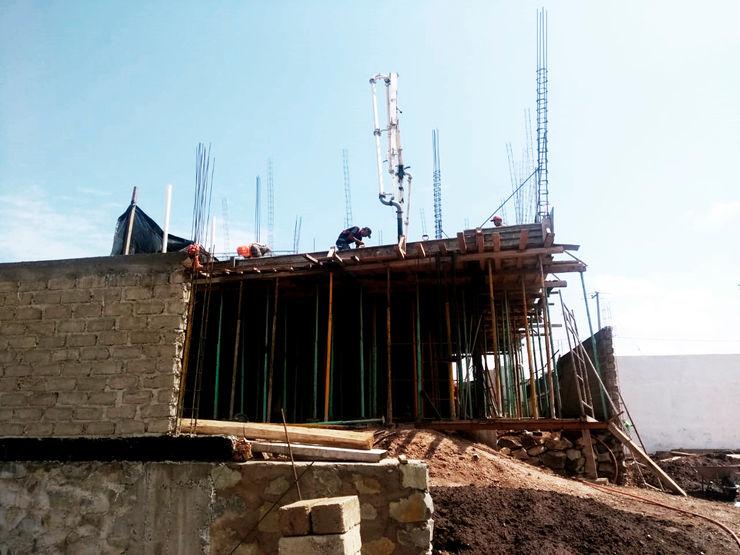 Arquitectos en Guadalajara, Cimbra de losa de entrepiso DOS Arquitectura y construcción Techos