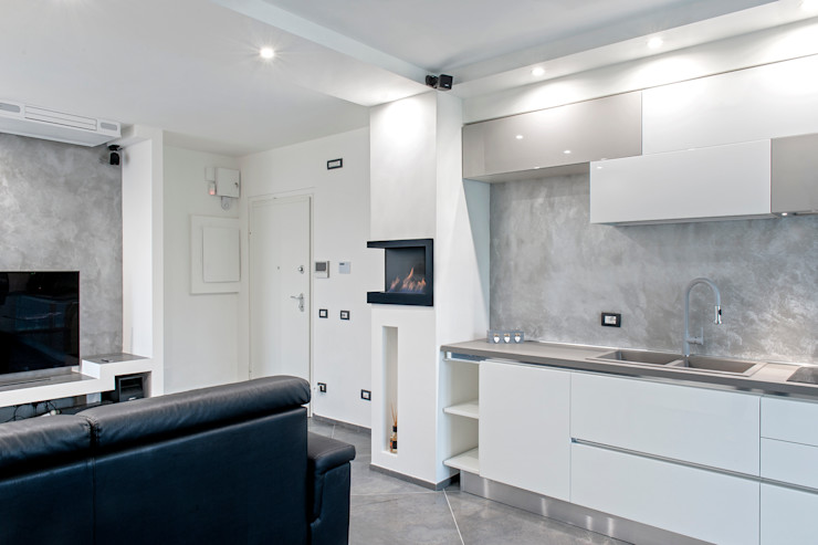 Mighty House Luca Bucciantini Architettura d' interni Cucina attrezzata Legno Bianco