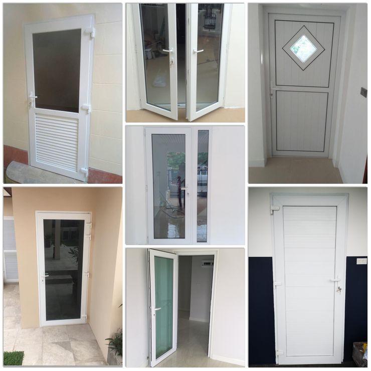ร้าน ชัยดล ยูพีวีซี พัทยา ประตู - หน้าต่าง upvc Вікна & Дверi Двері Пластик Білий