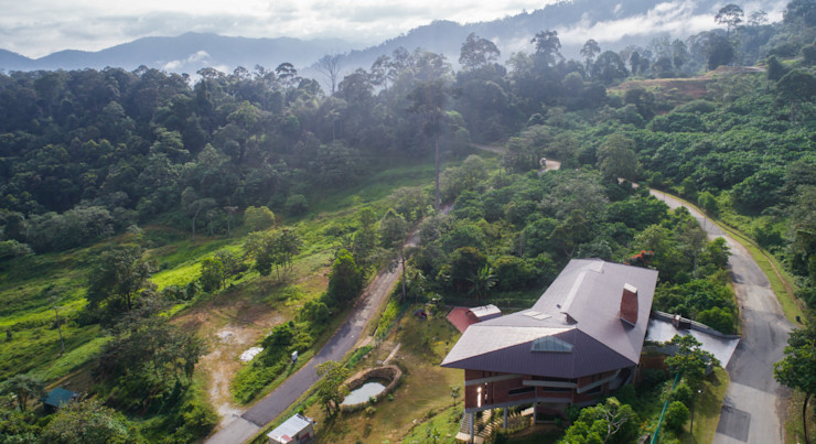 Birds eye view of the Jandabaik House MJ Kanny Architect Roof