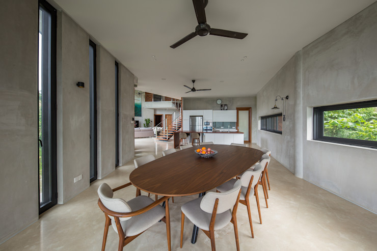 Dining Room MJ Kanny Architect Tropical style dining room