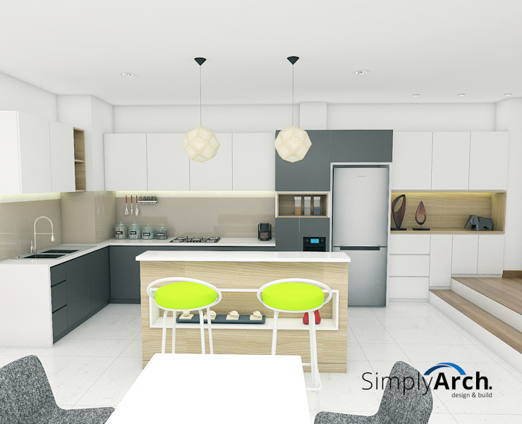 Kitchen set Simply Arch. Dapur built in Kayu Lapis