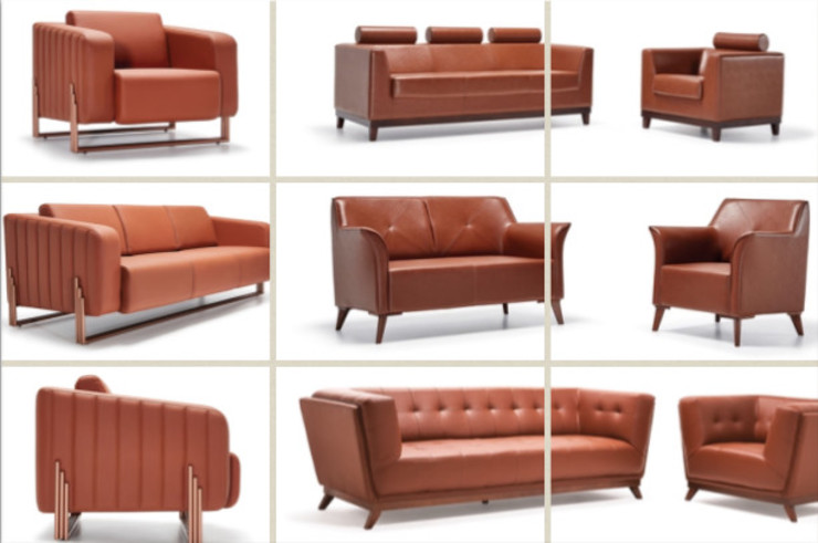 Office Armchair and Sofas SG International Trade Office spaces & stores Leather Red