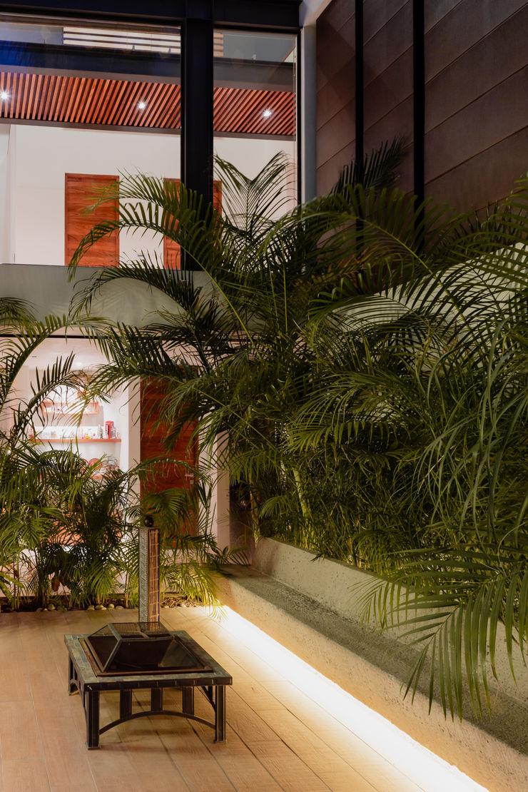 Terraza Interior. GRUPO VOLTA Balcones y terrazas modernos Concreto Beige