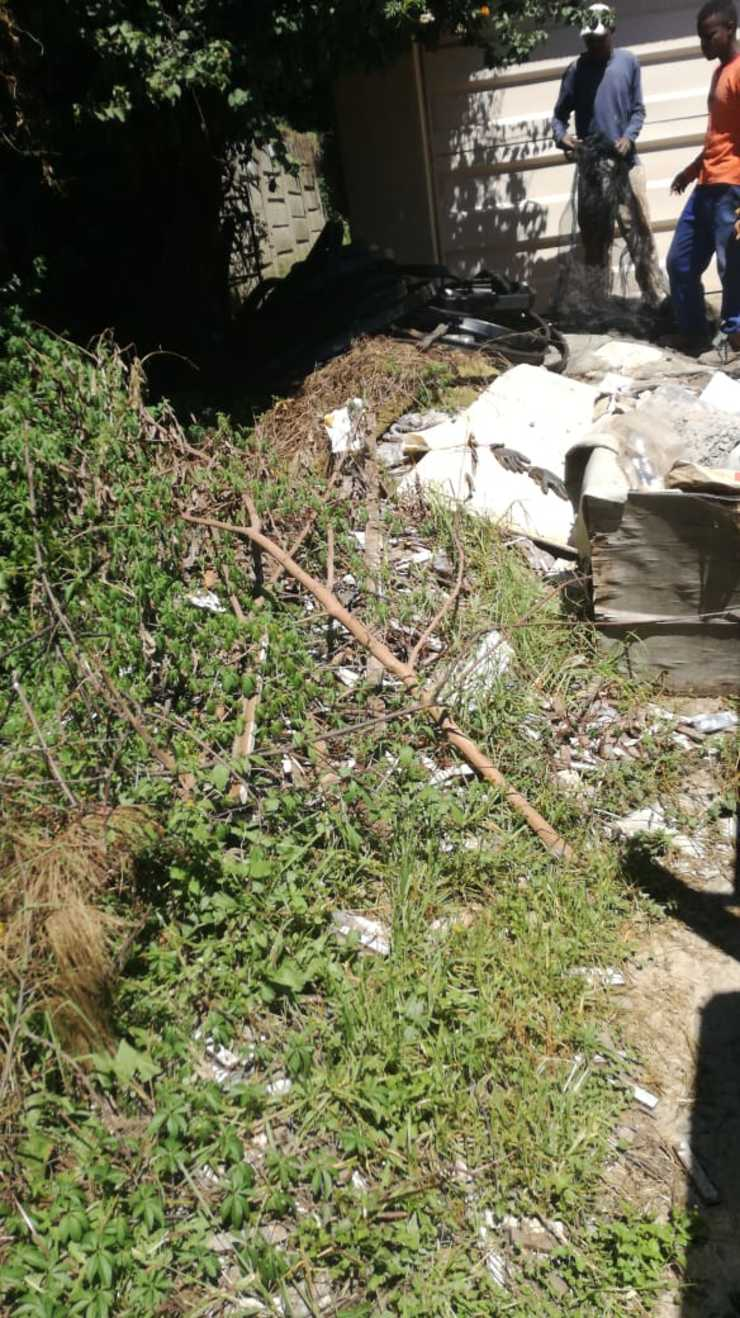Rubble Removal Before CK Rubble Removal & Tree Felling