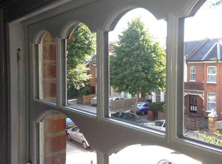 Internal View of Edwardian Sash Window With Castellated Pattern Sash Window Specialist