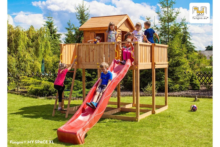 Parco Giochi in legno per Bambini FUNGOO ONLYWOOD GiardinoAltalene & Aree Giochi Legno