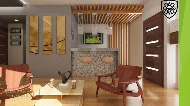 OLLIN ARQUITECTURA Modern Living Room