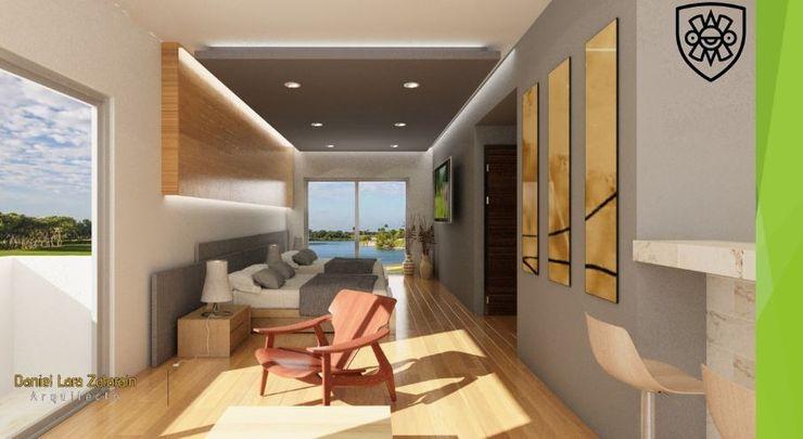 OLLIN ARQUITECTURA Modern Corridor, Hallway and Staircase