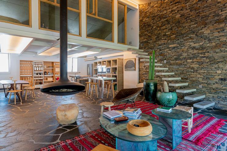 zona de estar David Rius Serra Salones de estilo mediterráneo