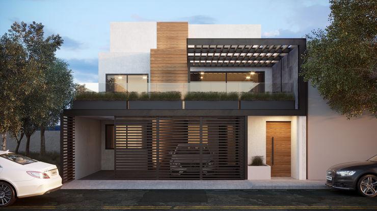 Casa Navarrete 4 + Arquitectura Casas unifamiliares Concreto Blanco