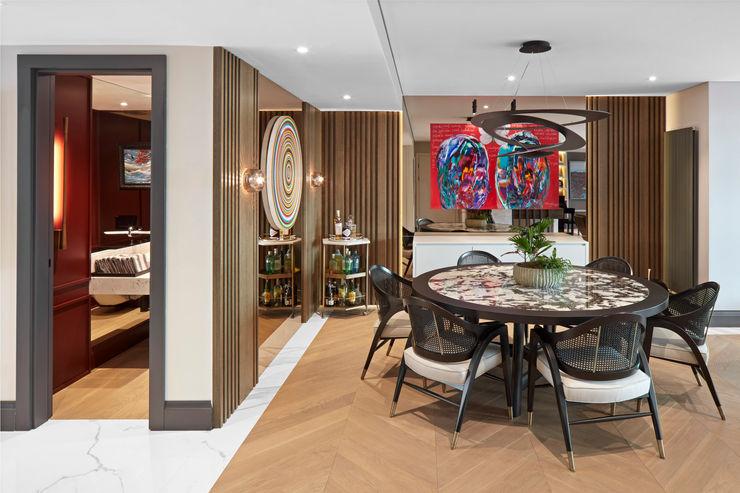 DINING ROOM Esra Kazmirci Mimarlik Modern dining room Wood Black