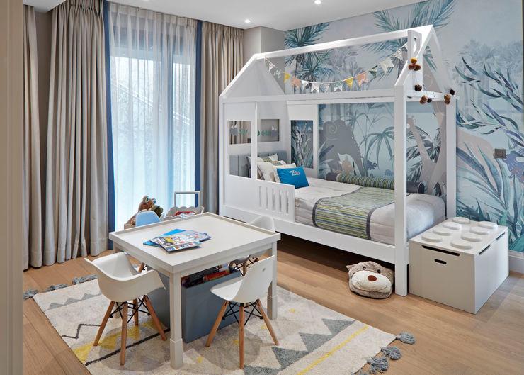 kids bedroom Esra Kazmirci Mimarlik Boys Bedroom Wood White