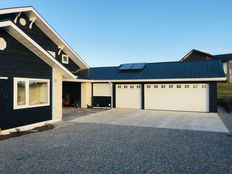 Portones Patagonia Подвійний гараж Залізо / сталь Білий