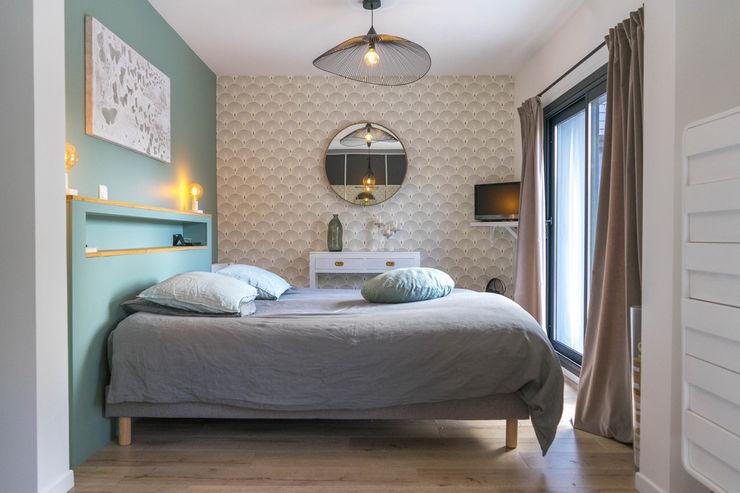 chambre douce et chic MISS IN SITU Clémence JEANJAN Chambre originale Bois Vert