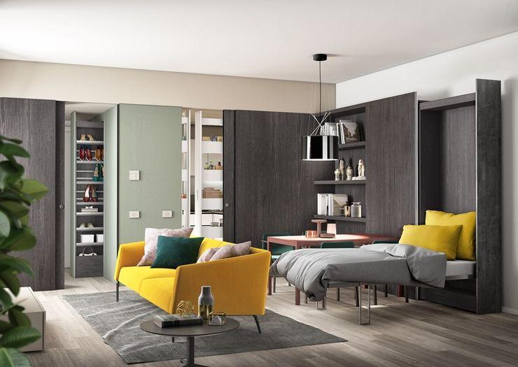 Appartamento Centro Milano PROTEK Soggiorno moderno