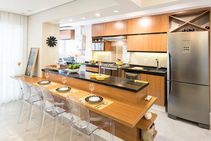 Cozinha integrada Ju Miranda Arquitetura Cozinhas modernas
