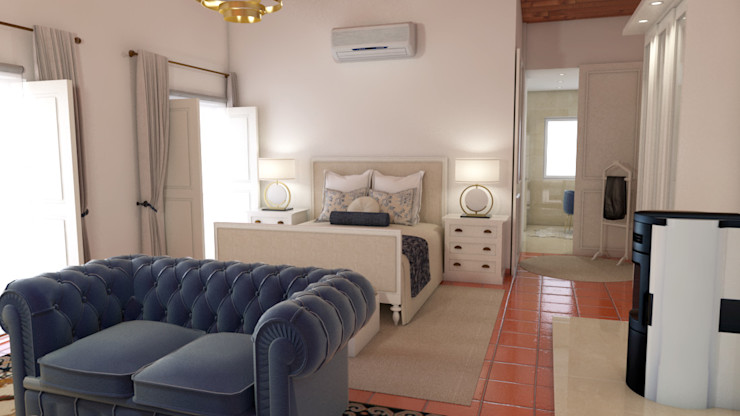 Projecto de remodelação de moradia The Spacealist - Arquitectura e Interiores Quartos clássicos