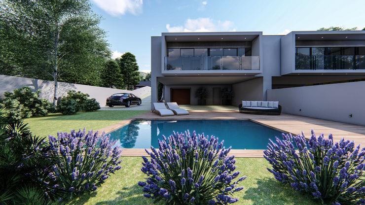 Projeto de arquitetura paisagista para habitação unifamiliar 88 Design & Paisagismo Jardins mediterrânicos