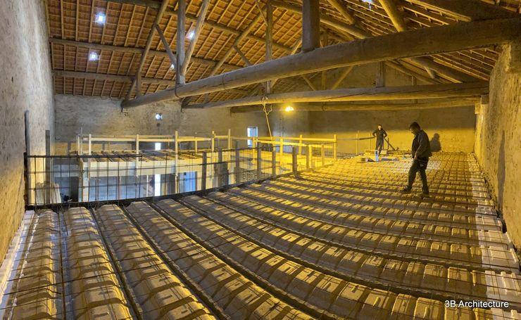 Travaux - Réalisation des plancher d'étage 3B Architecture Chambre moderne