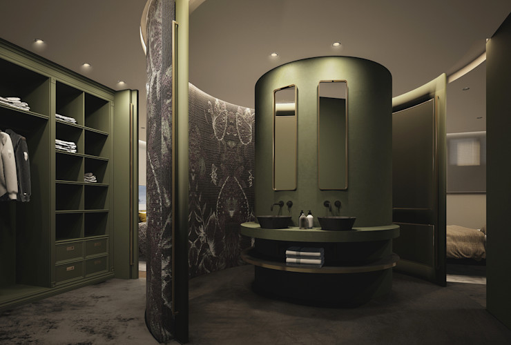 DyD Interiorismo - Chelo Alcañíz Classic style bathroom Wood-Plastic Composite Green