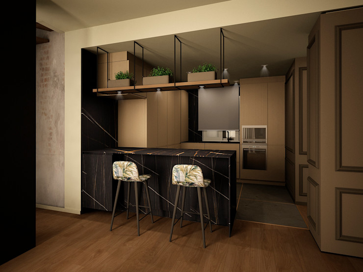 DyD Interiorismo - Chelo Alcañíz Classic style kitchen Engineered Wood Green